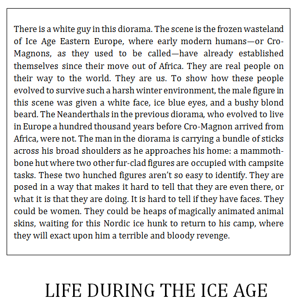 Anthony Michael Morena Life During the Ice Age