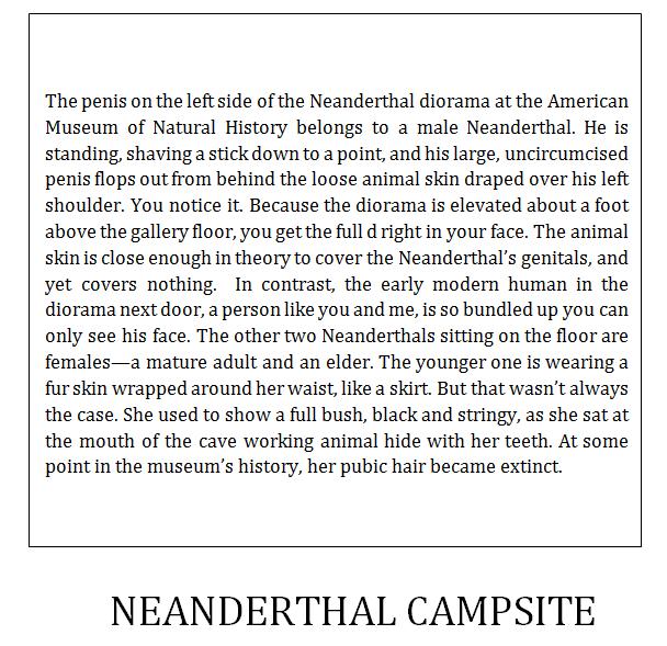 Anthony Michael Morena - Neanderthal Campsite