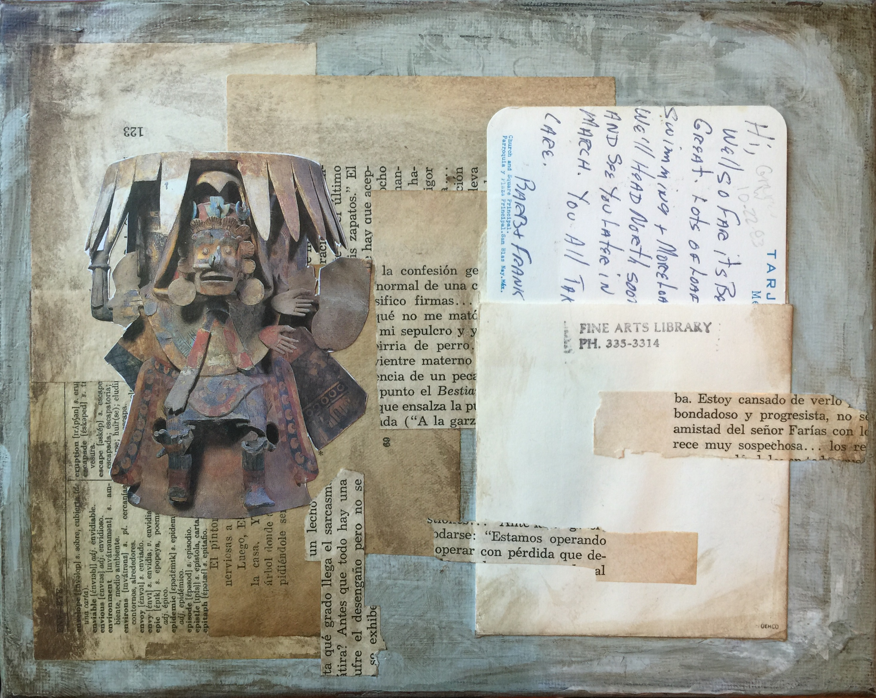 """Well so far it's been great"" – an Aztec warrior and a 1983 postcard from Barb and Frank"